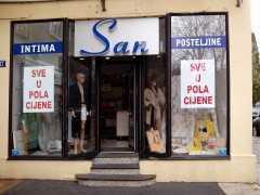Магазин постельных принадлежностей «San» в Подгорице