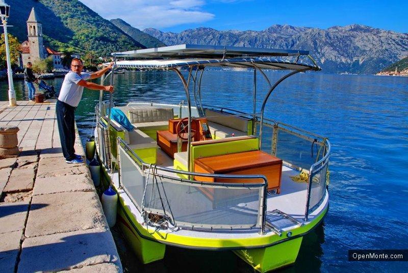 Новости Черногории: В Боке Которской изготовили лодку на солнечных батареях