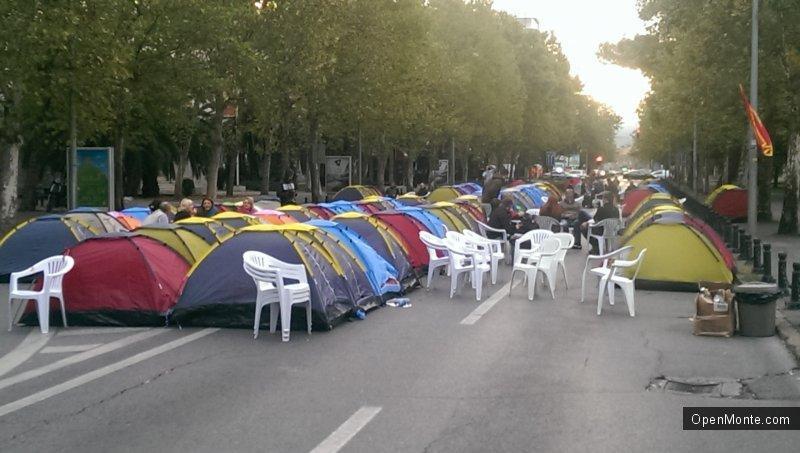 Новости Черногории: В столице Черногории началась многодневная антиправительственная акция протеста