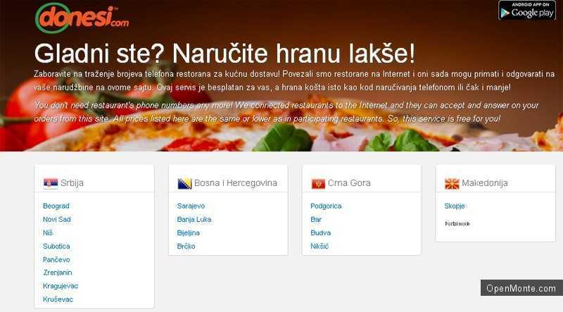 Новости Черногории: В Черногории быстро завоевывает популярность новый сервис быстрой доставки еды и продуктов на дом