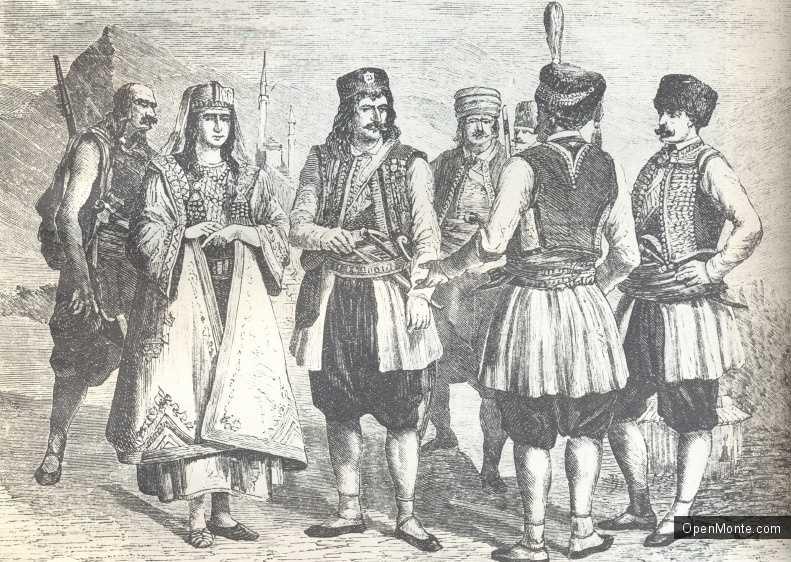 О Черногории: Черногорцы